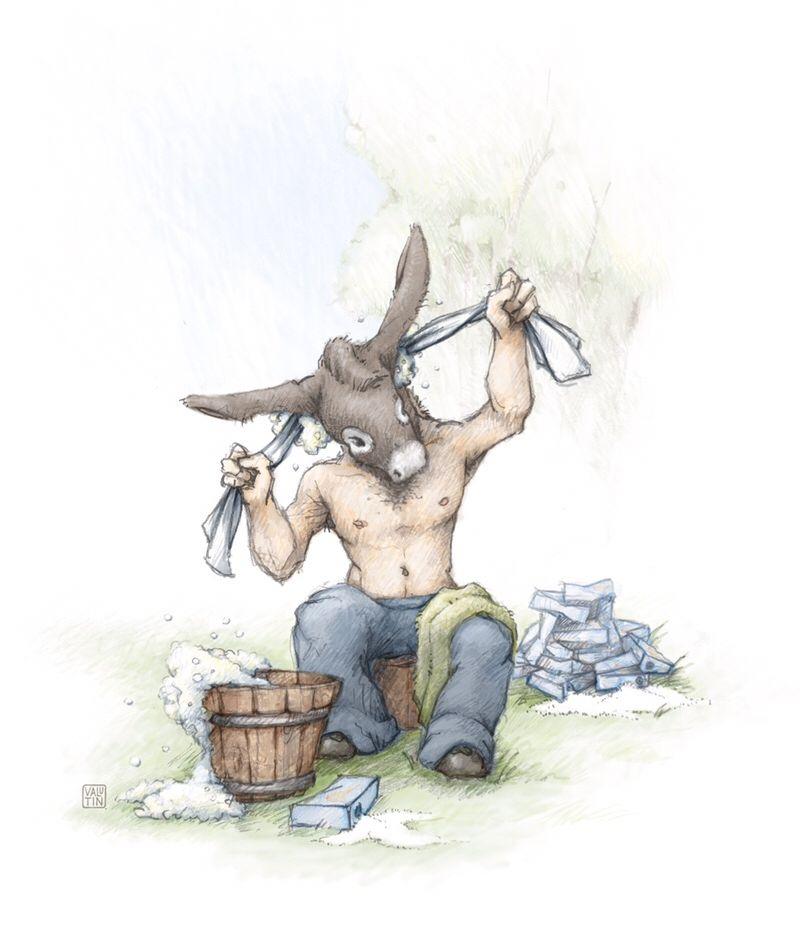 À laver la tête d'un âne …